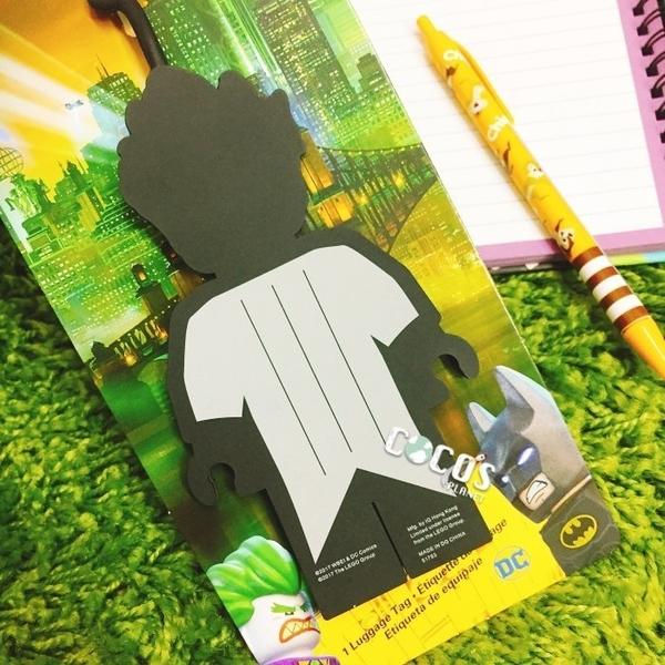 LEGO樂高 樂高蝙蝠俠電影 蝙蝠俠 小丑 人偶造型行李吊牌 小丑行李吊牌 掛飾吊飾 COCOS LG287