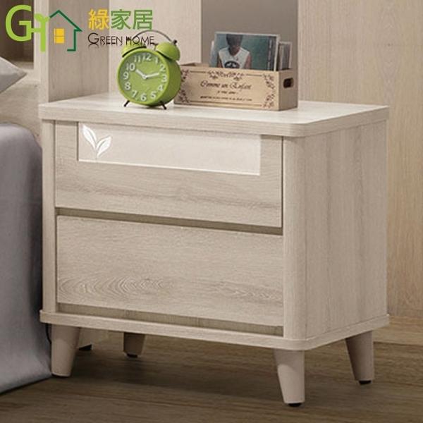 【綠家居】史瓦濟 現代1.8尺二抽床頭櫃/收納櫃