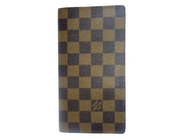 LV LOUIS VUITTON 路易威登 棋盤格簡約二折長夾 N61823【BRAND OFF】