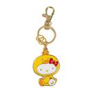 Sanrio HELLO KITTY變裝小雞系列側座造型金屬鑰匙圈_RD00553