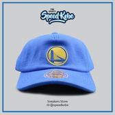 M&N MITCHELL&NESS 寶藍 勇士logo 軟式可彎 棒球帽 老帽 可調 HA05GSW☆SP☆
