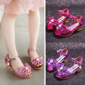 兒童涼鞋 兒童涼鞋女童公主鞋夏季新款女寶寶演出鞋韓版百搭水晶高跟鞋