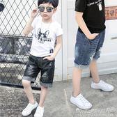短褲子五分褲薄款中大童韓版破洞兒童牛仔寬鬆潮 晴天時尚館
