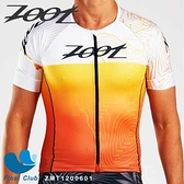 【ZOOT】男款 F20 冠軍選手Ben Hoffman聯名限定款 有袖全開三鐵上衣 旭日橘 ZMT1200601 原價3700元