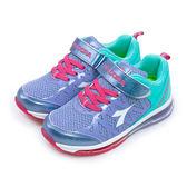 LIKA夢 DIADORA 輕量氣墊慢跑鞋 繽紛亮麗系列 紫藍粉 3867 中童