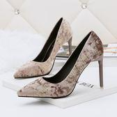 性感尖頭淺口高跟鞋 顯瘦細跟百搭宴會鞋【多多鞋包店】z7034
