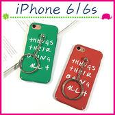 Apple iPhone6/6s 4.7吋 Plus 5.5吋 英文字母背蓋 簡約手機殼 磨砂保護套 PC手機套 全包保護殼 掛飾