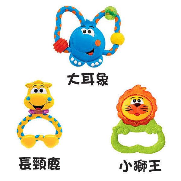 【奇買親子購物網】Chicco大耳象/長頸鹿/小獅王固齒手搖鈴