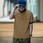條紋帥氣寬鬆POLO男潮2018新款夏季