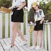 女童運動褲2020新款夏裝洋氣女孩中大童夏季兒童寬鬆短褲外穿褲子 米娜小鋪