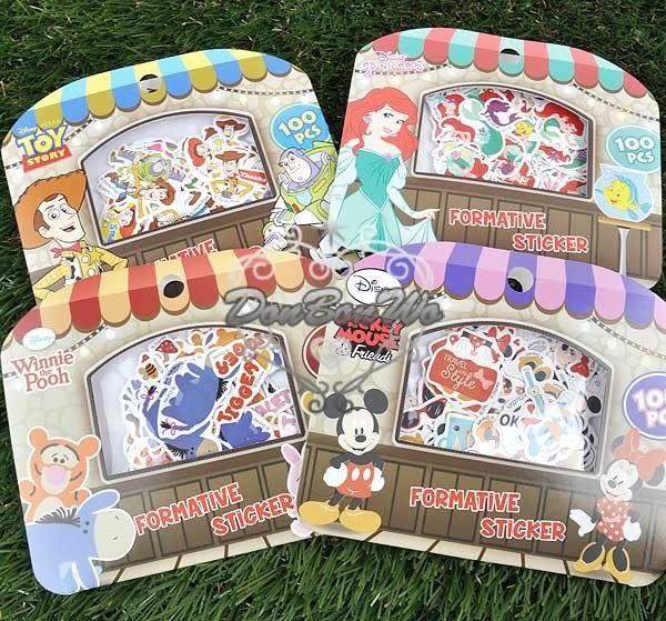迪士尼米奇米妮維尼奇奇蒂蒂玩具人魚史迪奇貼紙行事曆貼裝飾貼710014通販屋