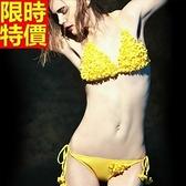 比基尼-音樂祭手工縫花精美艷麗|兩件式泳衣-67h72[時尚巴黎]