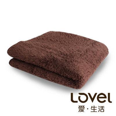 Lovel7倍強效吸水抗菌超細纖維小浴巾(咖啡糖)