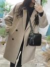 外套女大衣中長款新款流行赫本風韓版秋冬季呢子加厚學生 易家樂
