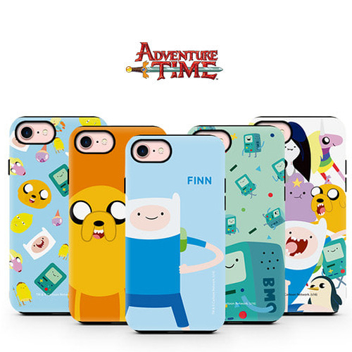 Adventure Time 探險活寶 雙層防摔 手機殼│iPhone 5S SE 6 6S 7 8 Plus X XS MAX XR 11 Pro│z8187