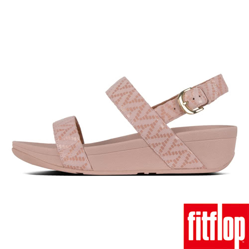 FitFlop】LOTTIE CHEVRON-SUEDE BACK-STRAP SANDALS(灰粉色)