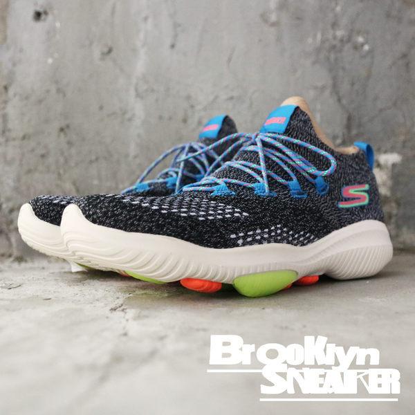 Skechers Go Walk Evolution Ultra 黑灰編織 彩色鞋帶 襪套 男 (布魯克林) 2018/8月 54667BKMT