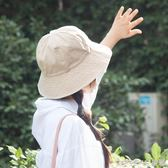 漁夫帽 簡約文藝百搭漁夫帽女夏日繫小清新帽子韓版盆帽 晶彩生活