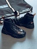 兒童靴子 男童馬丁靴2021新款秋冬季英倫風加絨加厚棉鞋二棉真皮兒童鞋靴子 嬡孕哺