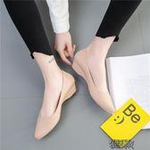 果凍鞋 尖頭雨鞋女時尚款外穿淺口防水正韓版果凍鞋女士水鞋時尚防滑膠鞋益 街頭布衣