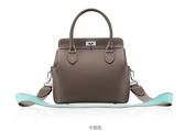 手提包 女包推薦 側背包 真皮包包 免運費 媲美 Hermes Toolbox 【城市風潮】ALY 2101