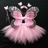 角色扮演cosplay兒童天使翅膀公主網紗蓬蓬裙女童演出服裝道具「歐洲站」
