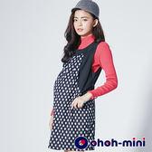 【ohoh-mini孕婦裝】俏皮圓點孕哺背心洋裝