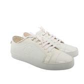 【CHANEL】牛皮拼亮皮休閒鞋(白色)(38.5) CH51120002