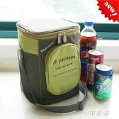 韓式加厚飯盒袋大號鋁箔保溫袋圓形保溫桶袋子防水手提學生便當包『小淇嚴選』