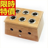 艾草針灸盒 艾灸器具-六孔竹製艾灸盒祛寒溫灸盒多功能65j22[時尚巴黎]