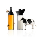 MIX 奶精瓶(黑160ml)+蜜糖瓶(黑160ml)