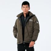 BigTrain潮人連帽防風鋪棉外套-男-軍綠-M.L.XL