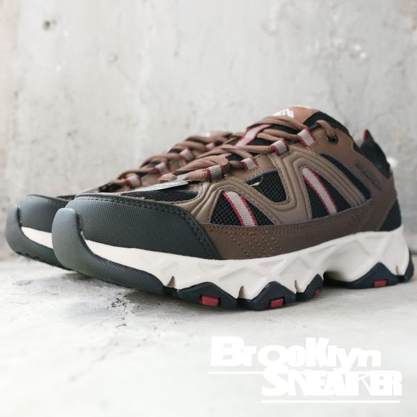 Skechers 戶外登山鞋 咖啡 黑 防潑水 寬楦 男 (布魯克林) 2018/8月 51885BRBK