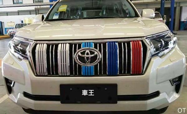 【車王汽車精品百貨】豐田 Toyota 2018 PARDO 三色款 中網飾條 中網框 水箱護罩 水箱飾條 中網改裝