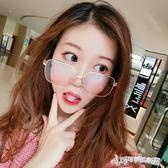 眼鏡 原宿ulzzang眼鏡女方框平光鏡大框圓臉太陽鏡鏡男墨鏡 Cocoa