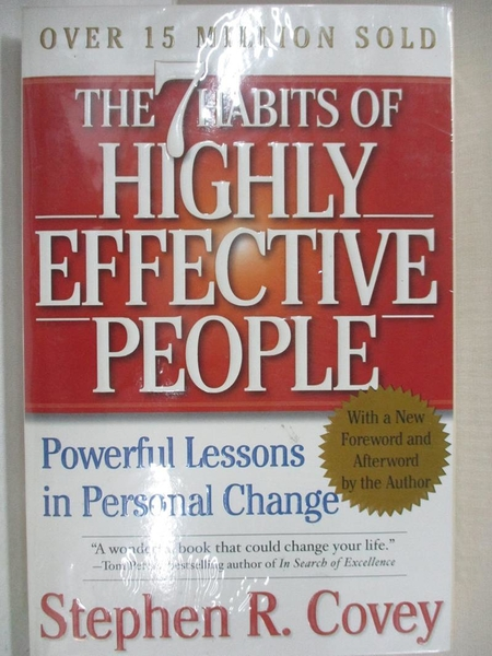 【書寶二手書T1/財經企管_ACS】7 Habits Of Highly Effective People…_COVEY, STEPHEN R