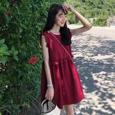 無袖洋裝 法式小眾復古初戀a字裙子夏季桔梗洋裝女韓版顯瘦仙女超仙森系 朵拉朵YC