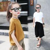 夏裝女童T恤短袖2018新款正韓中大童蝙蝠袖上衣兒童寬鬆體恤 嚴選柜惠八八折