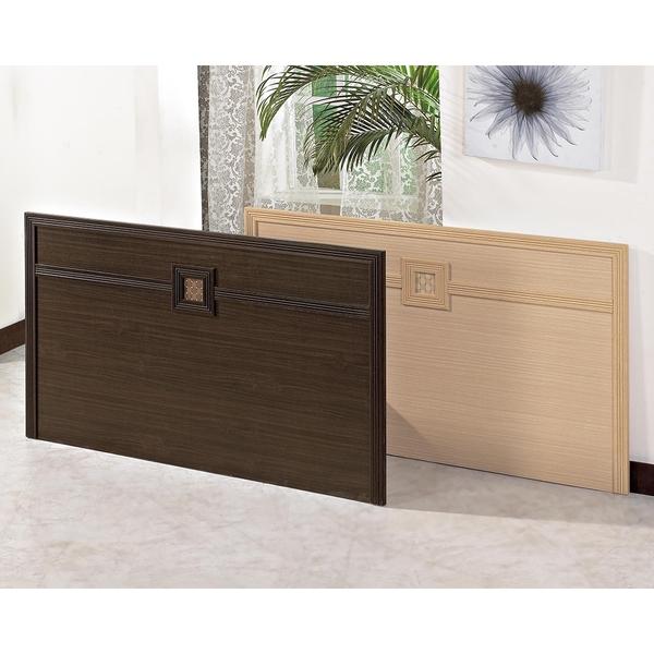 【森可家居】凱爾5尺床片 8JX382-6(胡桃色) 8JX382-8(白橡色)雙人床頭片 木紋質感