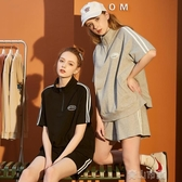 唐獅 夏季新款運動套裝女休閒學生運動裝時尚潮短袖兩件套 青山市集