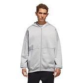 Adidas MHS WRD FZSWT 男款灰色保暖長袖外套-NO.GE0383