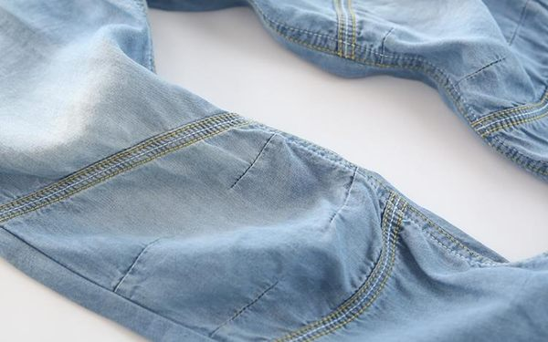 空調褲防蚊褲夏款男女童裝軟薄款牛仔褲中大兒童天絲棉長褲子寬鬆  無糖工作室