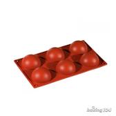 義大利 Pavoni 多連矽膠模 半圓形 蛋糕模 慕斯模 果凍模 點心模 PV FR001