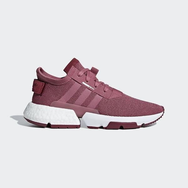Adidas POD-S3.1 [B37508] 女鞋 運動 休閒 襪套 街頭 緩震 舒適 酒紅 白 愛迪達