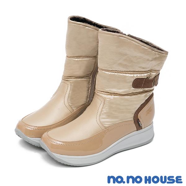 雪靴 冰雪魅力防潑水厚底靴(卡其) * nonohouse【18-6933ca】【現貨】