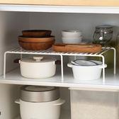 懶角落 可伸縮廚房置物架廚房多層收納單層架鍋架儲物調料架65911   夢曼森居家