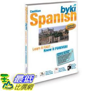 [106美國直購] 2017美國暢銷軟體 Byki Spanish Language Tutor Software CD-ROM for Windows & Mac