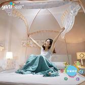 (超夯免運)蒙古包蚊帳 公主風1.8m床1.5雙人家用有底支架三開門床單人xw蚊帳