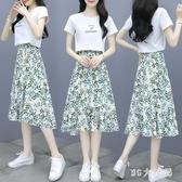 2020年新款矮小個子顯瘦洋氣質減齡上衣碎花半身裙兩件套裝女夏季 FX7158 【MG大尺碼】