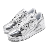 Nike 休閒鞋 Wmns Air Max 90 SP Metallic Silver 銀 白 女鞋 運動鞋【ACS】 CQ6639-001